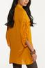Plus Size Gold Ruched Sleeve Tunic alternate view