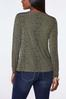 Plus Size Cutout Spotted Olive Top alternate view