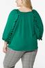 Plus Size Silky Ruffled Sleeve Top alt view