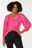 Plus Size Pink Textured Tunic alt view