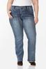 Plus Size Stone Leopard Pocket Jeans alternate view