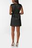 Padded Shoulder Leather Dress alternate view