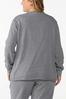 Plus Size Distressed Sweatshirt alternate view