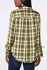 Plus Size Plaid Bell Sleeve Tunic alternate view
