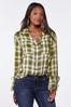 Plus Size Plaid Bell Sleeve Tunic alt view