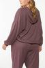 Plus Size Wine French Terry Hoodie alternate view