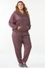 Plus Size Wine French Terry Hoodie alt view