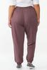 Plus Size Wine French Terry Joggers alternate view
