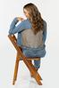 Plus Size Plaid Back Denim Jacket alt view