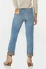 Plaid Cuff Girlfriend Jeans alternate view