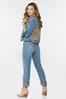 Plaid Cuff Girlfriend Jeans alt view