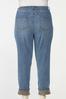 Plus Size Plaid Cuff Girlfriend Jeans alternate view