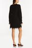Plus Size Frayed Sweater Dress alternate view