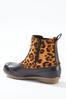 Leopard Panel Duck Boots alternate view