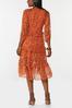 Tiered Orange Floral Dress alternate view