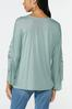 Lacy Ruched Sleeve Top alternate view