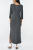 Plus Size Knotted Maxi Shirt Dress alternate view