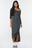 Plus Size Knotted Maxi Shirt Dress alt view