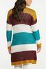 Plus Size Colorblock Cardigan Sweater alternate view