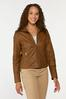 Faux Leather Pintucked Jacket alt view