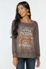 Plus Size Fall Highlights Slouchy Top alt view