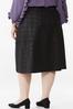 Plus Size Coated Plaid Midi Skirt alternate view