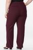 Plus Size Curvy Wine Trousers alternate view