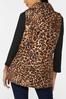 Plus Size Leopard Puffer Vest alternate view