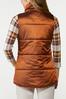 Plus Size Bronze Puffer Vest alternate view