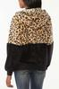 Plus Size Colorblock Faux Fur Jacket alternate view