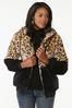 Plus Size Colorblock Faux Fur Jacket alt view