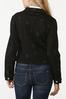 Plus Size Black Star Denim Jacket alternate view