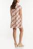 Plus Size Ombre Plaid Swing Dress alternate view
