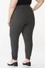 Plus Size Charcoal Pull- On Pants alternate view