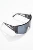 Black Shield Sunglasses alt view