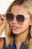 White Gold Statement Sunglasses alt view