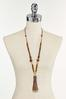 Faux Leather Tassel Necklace alternate view