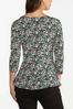 Floral Ruched Front Top alternate view