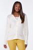 Plus Size Ivory Cardigan Sweater alt view