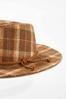 Plaid Panama Hat alternate view