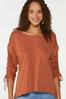 Plus Size Ruched Sleeve Top alt view