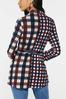 Plus Size Belted Plaid Tunic alternate view