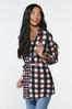 Plus Size Belted Plaid Tunic alt view