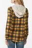 Plus Size Plaid Hooded Shacket alternate view