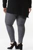 Plus Size Faux Suede Houndstooth Leggings alternate view