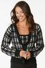 Houndstooth Cardigan Sweater alt view