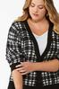 Plus Size Houndstooth Cardigan Sweater alt view