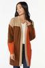 Plus Size Autumn Colorblock Cardigan Sweater alt view