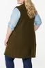Plus Size Olive Sweater Vest alternate view