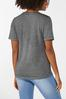 Plus Size Distressed Rock On Tee alternate view
